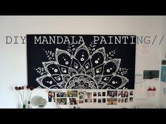 ▶ DIY Spring Room Decor Mandala Painting// - YouTube