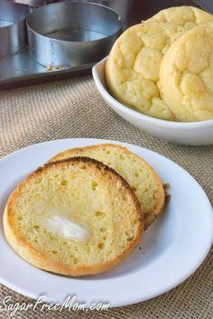 Low Carb English Muffins- paleo, grain free, gluten free- http://sugarfreemom.com