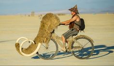 Woolly Mammoth bike at burning man