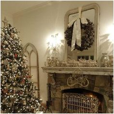 Kiss of Christmas in February.  Visit Romantic Vintage Home on Facebook