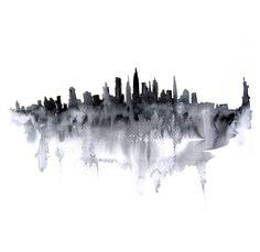 Original watercolor Manhattan