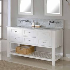 Shop Direct Vanity Sink  60D6 60-in Mission Spa Premium Double Sink Bathroom Vanity at ATG Stores. Browse our bathroom vanities, all with free shipping and best price guaranteed.