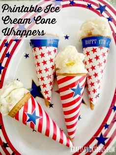 Festive Ice Cream Cone Wrappers
