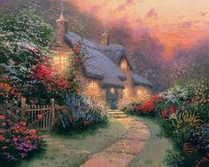 Glory of Evening - by Thomas Kinkade (63 pieces)