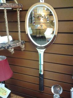 Spalding Tennis Racket Re-Purposed Hanging by TheRustyBucketVT