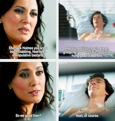 Sherlock and Janine. A match made in heaven. I hated her. I hated her very existence because she kissed MY Sherlock. No one kisses my Sherlock. Sherlock John, Bbc Sherlock Holmes, Sherlock Fandom, Sherlock Quotes, Sherlock Humor, Watson Sherlock, Jim Moriarty, Johnlock, Martin Freeman