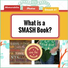 What is a SMASH Book? Share about smashbooking and its differences from scrapbooking. Journal Ideas Smash Book, Smash Book Inspiration, Book Journal, Journal Cards, Art Journals, Bullet Journal, Smash Book Love, Project Life Organization, Project Life Cards