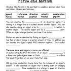 FREEBIE... This is a summary of the 4th grade Science Unit 8 on Force and Motion in the Harcourt Series.  I'm adding it to the Unit Test included in the textb...