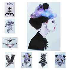 Yan & Lei Temporary Tattoo Sticker Sets-I