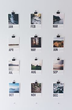 customize 12 months of photos with an @artifactuprsng wood calendar / photo by @sararogersphotography //Manbo