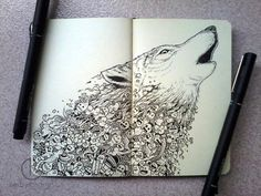 Moleskine Notebook Art by Kerby Rosanes | purple leaves