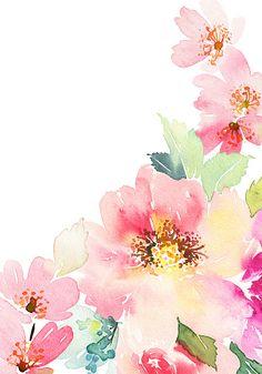 Acuarela tarjeta con flores. - ilustración de arte vectorial