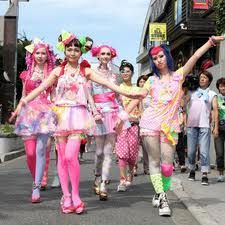 japenese street fashion. i would love to go to japan and party with these people