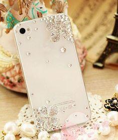02c5f9827d6 Diagonal Flowers Crystal Finished Hard Case Cover For Apple Iphone 4 4S  Fundas Para Celular,