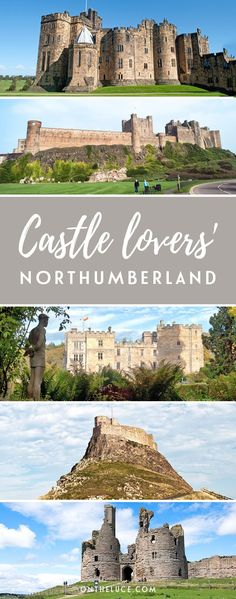 Five of the best castles in Northumberland, England, you don't want to miss, whether you like them ruined and remote, or lavish and perfectly preserved. Northumberland Castle, Northumberland National Park, Northumberland England, Europe Travel Tips, Travel Destinations, Medieval, Castles To Visit, North East England, Scotland Travel