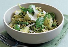 Pesto Style Salad with Fusilli Pasta #healthy #recipe #NewYearNewYou