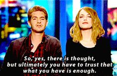 Andrew Garfield And Emma Stone Talk About His Spidey-Package