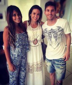 Lionel Messi and his girlfriend Antonella in Rosario, Argentina