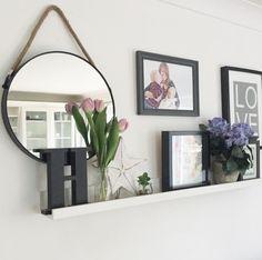 Circular Mirror with Rope Hang Height: 39 cm Width: 39 cm Depth: 5 cm