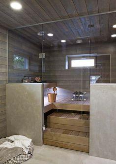Home Spa Room, Spa Rooms, Sauna Steam Room, Sauna Room, Basement Sauna, Sauna Diy, Design Sauna, Modern Saunas, Sauna Hammam