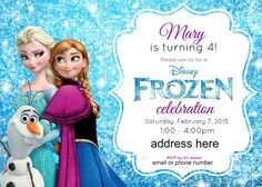 Disneys Frozen Birthday Party Ideas Pink Purple Blue A Jumper Too Free Invitations