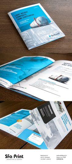 Een nieuwe corporate brochure voor Tankwell. Inclusief de mogelijkheid om documenten en een visitekaartje in te steken.