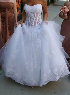 Wedding dress ideas on pinterest corset wedding dresses for See through corset top wedding dress