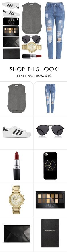 """""""Game. On."""" by weerala on Polyvore featuring Alexander Wang, adidas Originals, The Row, MAC Cosmetics, Michael Kors, Maybelline, Maison Margiela and Smythson"""