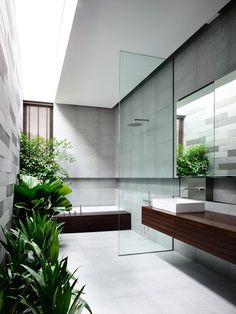 Vertical Court, Singapore Gardens and Green Fields, 2014 - Hyla Architects #bathroom