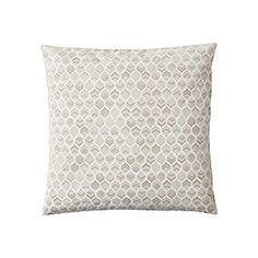 simplified tonal Leaf Pillow Cover – Flax | Serena & Lily