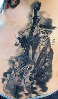 If you do not know what Rockabilly tattoo is, you are here in for the treat! Rockabilly tattoo and piercing is the name of one the greatest tattoo shops in California. Music Tattoos, Love Tattoos, Tattoo You, Tattoos For Guys, Tatoos, Crazy Tattoos, White Tattoos, Band Tattoo, Grey Tattoo
