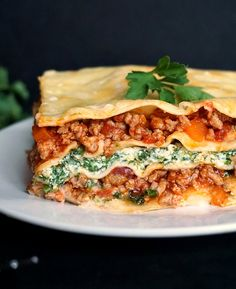 Turkey spinach lasagna recipe with ricotta, comfort food at its best. Once you make it, and you'll find yourself cooking it again and again.