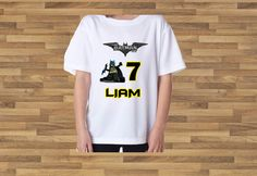 Custom tee Batman LEGO - Personalized - Birthday T-Shirt Party Favor by APartyToRemember on Etsy