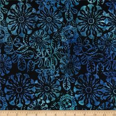 Michael Miller Batik Nadia Midnite from @fabricdotcom Designed for Michael Miller Fabrics, this Indonesian batik is perfect for quilting, apparel and home décor accents. Colors include shades of blue.