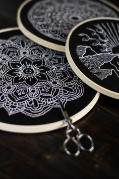Black and White – Sticken, Sticken, Sticken und wie ihr eure Motive einfach übertragt | Der Schlüssel zum Glück | Interior Design für Jedermann