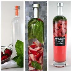 Strawberry Basil Infused Vodka - {Raisin Fig} Make this perfect summer cocktail to enjoy before dinner! Infused Vodka, Vodka Bar, Vodka Lime, Lime Juice, Strawberry Vodka, Party Drinks, Summer Drinks, Cocktail Recipes, Margarita Recipes