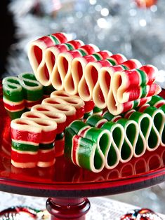 Old-fashioned ribbon candy for the holidays. Christmas ribbon candy makes the holidays sweeter. Order ribbon candy from The Vermont Country Store today. Christmas Sweets, Christmas Ribbon, Noel Christmas, Retro Christmas, Christmas Goodies, All Things Christmas, Father Christmas, Xmas, Old Time Christmas