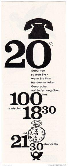Original-Werbung/ Anzeige 1960 - TELEFON - GEBÜHREN / DEUTSCHE BUNDESPOST - ca. 75 X 180 mm