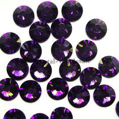 Purple Velvet (277) Swarovski 2058 Xilion  New 2088 Xirius 20ss Crystal  Flatbacks No-Hotfix Rhinestones 4.7mm ss20    FREE Shipping f767a86ce5d6