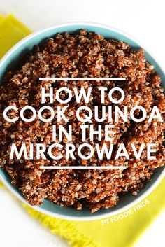 Love quinoa, but don't have access to a stove? Cook your quinoa in the microwave in just 8 minutes! All you need is quinoa, water, a microwave safe bowl, and a lid! Correct Tips on Howto Cook Quinoa Microwave Recipes, Just Cooking, Cooking Tips, Cooking Recipes, Cooking Light, Cooking Classes, Vegetarian Recipes, Healthy Recipes, Eating Clean