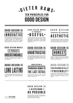 Deiter Ram's 10 principles of good design