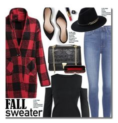 """""""Fall Sweaters (street style)"""" by beebeely-look ❤ liked on Polyvore featuring J.Crew, Paige Denim, Dooney & Bourke, Chanel, Sweater, plaid, fallsweaters, plaidcoat and twinkledeals"""