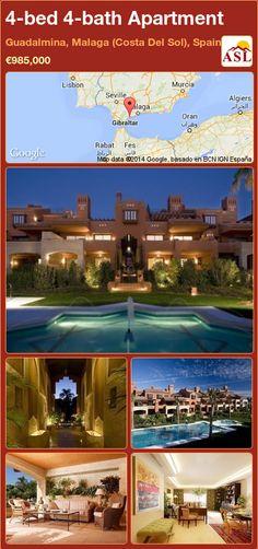 4-bed 4-bath Apartment in Guadalmina, Malaga (Costa Del Sol), Spain ►€985,000 #PropertyForSaleInSpain