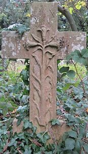 Grave Marker ... Cross ... Holywell Cemetery ... Oxford, Mississippi