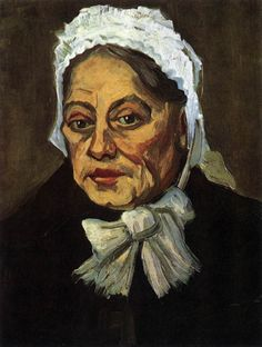 Head of an Old Woman with White Cap (The Midwife) December 1885, Antwerp Oil on canvas, 50 x 40 cm Rijksmuseum Vincent van Gogh, Amsterdam
