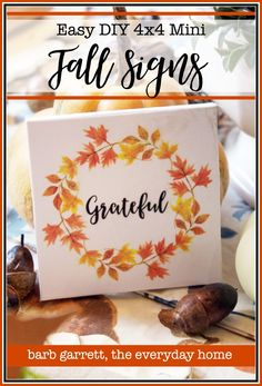 Mini Fall Signs with Free Printables Printable Designs, Free Printables, Celebration Time Come On, Fall Projects, Craft Projects, Thanksgiving Diy, Fall Signs, Craft Night, Fall Halloween