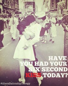 Have you had your 6 second kiss today? #relationships #romance @The Gottman Institute   www.ahavatherapy.com