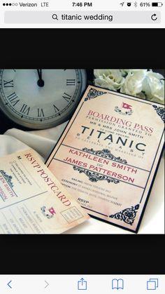 Titanic themed wedding