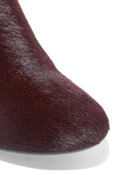 Heel measures approximately 65mm/ 2.5 inches Burgundy calf hair Zip fastening along side Made in Italy