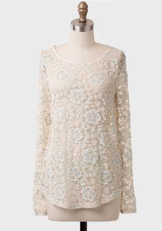 Vanilla Mint Lace Blouse at #Ruche @Ruche